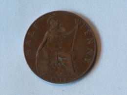 Grande-Bretagne 1/2 Half Penny 1913 - 1902-1971 : Monnaies Post-Victoriennes