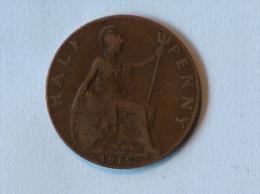 Grande-Bretagne 1/2 Half Penny 1915 - 1902-1971 : Monnaies Post-Victoriennes