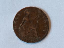 Grande-Bretagne 1/2 Half Penny 1917 - 1902-1971 : Monnaies Post-Victoriennes