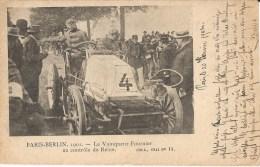AUTOMOBILE : Course Paris-Berlin En 1901 - Le Vainqueur Fournier Au Contrôle De Reims - Manifestations