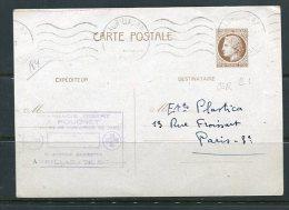 France 1946 Postal Stationary Card Paris - France