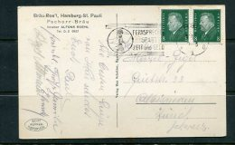 Germany 1928 Postal Card To Switzerland Zurich Pair - Germany