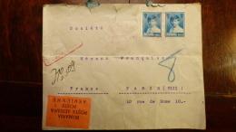 LETTRE    SC (x Scans)   ROUMANIE  ROMANA     HIRSCH INGENIEUR   BUCAREST PAR AVION   1928   + 2 TIMBRES PA AU DOS - Marcophilie