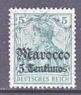 Germany  MOROCCO  34   (o)    Wmk. - Offices: Morocco