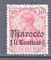 Germany  MOROCCO  35   (o)    Wmk.  CASABLANCA  Type  I  Cd. - Offices: Morocco