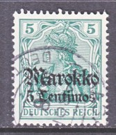 Germany  MOROCCO  46   (o)    Wmk. - Offices: Morocco
