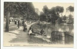 ENGHIEN - Avenue De Ceinture Et Le Lac - Enghien Les Bains