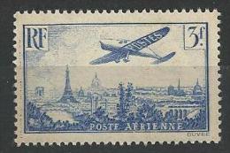 "FR Aerien YT 12 (PA) "" Avion Survolant Paris, 3F00 Outremer "" 1936 Neuf** - 1927-1959 Mint/hinged"