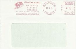 Lettre Flamme EMA Havas Satas  ASTORIA  Fer Repasser Materiel Electro Menager   Thematiquen 67 Schiltigheim A16/40 - Postmark Collection (Covers)