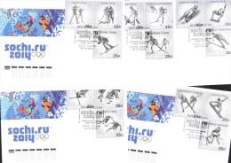 """W. Olympic 2014 Sochi 5 FDC - """"Sports"""" 24.1.2014 Postmark Sochi - Winter 2014: Sochi"""