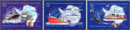 Russia 2006 Antarctic Exploration Ships, Penguins 3v MNH - Polar Philately