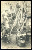 Cpa Métiers Pêche La Vie à La Mer Le Raccommodage Des Filets   LEG5 - Pêche
