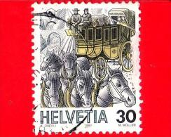 SVIZZERA - 1987 - USATO - Trasporti Postali - Diligenza Postale - 30 - Usados