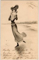 Femme Et Chapeau Sur Patins A Glace (Genre Viennoise)    (65459) - Illustratoren & Fotografen