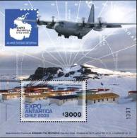 Chile 2009 Antarctic Treaty Airplane SS MNH - Polar Philately