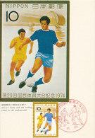 D16325 CARTE MAXIMUM CARD TRIPLE 1974 JAPAN - SOCCER CP ORIGINAL - Soccer