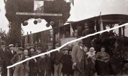 REIMS LE CBR  ARRIVEE DU TRAIN   TIRAGE D APRES PLAQUES PHOTO EN 13 X 18 CM - Treni