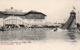Belgique Exposition Universelle De Liege 1905 N°72 Parc D'attractions Voir Scan - Belgique