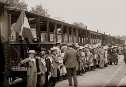 REIMS LE TRAIN CBR  TIRAGE D APRES PLAQUES PHOTO EN 13 X 18 CM - Foto
