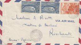 Congo AEF 1947 Brazzaville RP Moyen Congo Double Circle Forest Cover - A.E.F. (1936-1958)