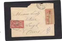 Yvert  119 Merson Seul Sur Lettre Recommandée Conches En Ouche Eure 1920 - France