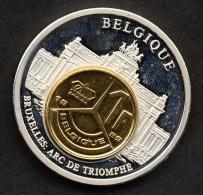 Belg.1989 -  Bruxelles Arc De Triomphe (avec Pièce De 1fr. 1989 Couleur Cuivre) - Belgique