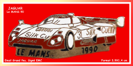 SUPER PIN´S JAGUAR : Belle JAGUAR, Le MANS 1990 Sponsor CASTROL, Signé EMC - Jaguar