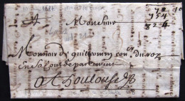 MARQUE LINEAIRE N° 1 De MONTPELLIER  --  HERAULT  --  1687  --  INDICE 21 - Marcophilie (Lettres)