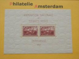 Luxembourg 1937, EXPOSITION DUDELANGE: Mi 302, Bl. 2, ** - Ongebruikt