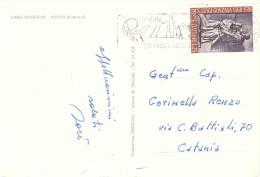 1968 £25 GONZAGA SU CARTOLINA LAGO MAGGIORE ARONA NOTTURNO CON ANN. TARGHETTA - 6. 1946-.. Repubblica