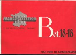 Pompier Catalogue D´habillement Et D´équipement France Sélection Bot 18-18 En Couleur 1950/1960 Incendie Feu - Pompieri
