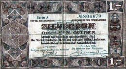 Billets Pays Bas,1 Gulden Type Zilverbon - Pays-Bas