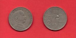 ITALY, 1923, Circulated Coin XF, 2 Lira, Nickel, KM63, C1910 - 1861-1946 : Kingdom