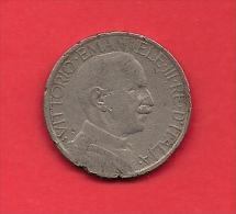 ITALY, 1924, Circulated Coin VF, 2 Lira, Nickel, KM63, C1911 - 1861-1946 : Kingdom