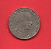 ITALY, 1925, Circulated Coin VF, 2 Lire, Nickel, KM63, C1912 - 1861-1946 : Kingdom
