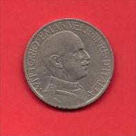 ITALY, 1926, Circulated Coin XF, 2 Lire, Nickel, KM63, C1913 - 1861-1946 : Kingdom