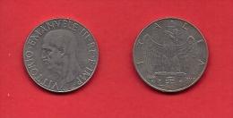 ITALY, 1939, Circulated Coin XF, 1 Lira, Nickel Magnetic, KM77b, C1918 - 1861-1946 : Kingdom