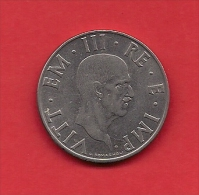 ITALY, 1939, Circulated Coin XF, 2 Lire, Stainless Steel Magnetic, KM78B, C1914 - 1861-1946 : Kingdom