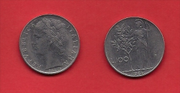 ITALY, 1963, Circulated Coin XF, 100 Lire, Stainless Steel, KM96, C1925 - 1946-… : Republic