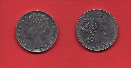 ITALY, 1970-1989, Circulated Coin XF, 100 Lire, Stainless Steel, KM96, C1930 - 1946-… : Republic