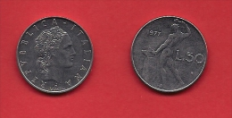 ITALY, 1970-1989, Circulated Coin XF, 50 Lire, Stainless Steel, KM95, C1923 - 1946-… : Republiek