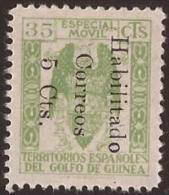 GUI259B-L4172TESS.Guinee .GUINEA  ESPAÑOLA..Escudo De España.S Fiscales.1939/41.(Ed  259B**).sin Charnel.RARO.MAGNIFICO - Sellos