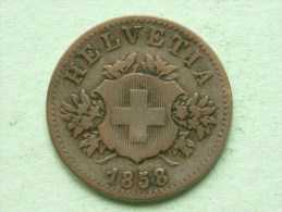 1858 B - 20 RAPPEN / KM 7 ( Uncleaned - For Grade, Please See Photo ) ! - Suisse