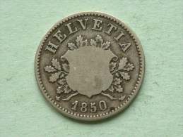 1850 BB - 10 RAPPEN / KM 6 ( Uncleaned - For Grade, Please See Photo ) ! - Suisse
