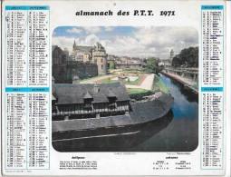 CALENDRIER - ALMANACH DES POSTES ET DES TELEGRAPHES - ANNEE 1971 - Calendriers