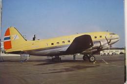 CURTISS C 46    FRED OLSEN   LN FOS  COPENHAGUE AIRPORT 68 - 1946-....: Moderne