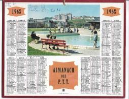 CALENDRIER - ALMANACH DES POSTES ET DES TELEGRAPHES - ANNEE 1968 - DEPARTEMENT DE L'AUDE - Calendars