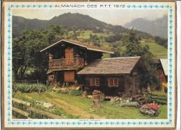 CALENDRIER - ALMANACH DES POSTES ET DES TELEGRAPHES - ANNEE 1972 - DEPARTEMENT DE SEINE ET MARNE - Calendars