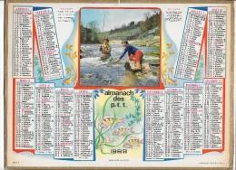 CALENDRIER - ALMANACH DES POSTES ET DES TELEGRAPHES - ANNEE 1969 - Calendars