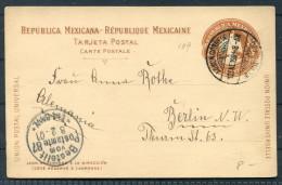 1901 Mexico Stationery - Berlin Germany - Mexico